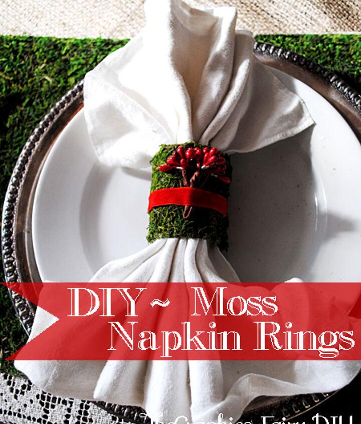 Moss napkin rings