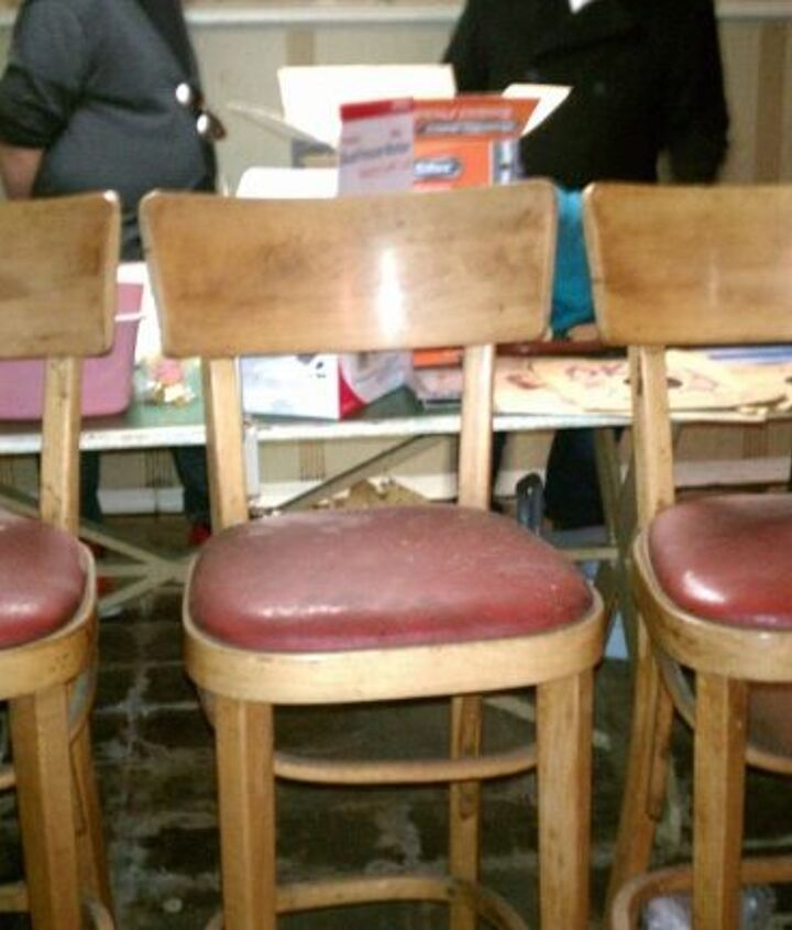 These dusty barstools were a steal at $25.00 for all three