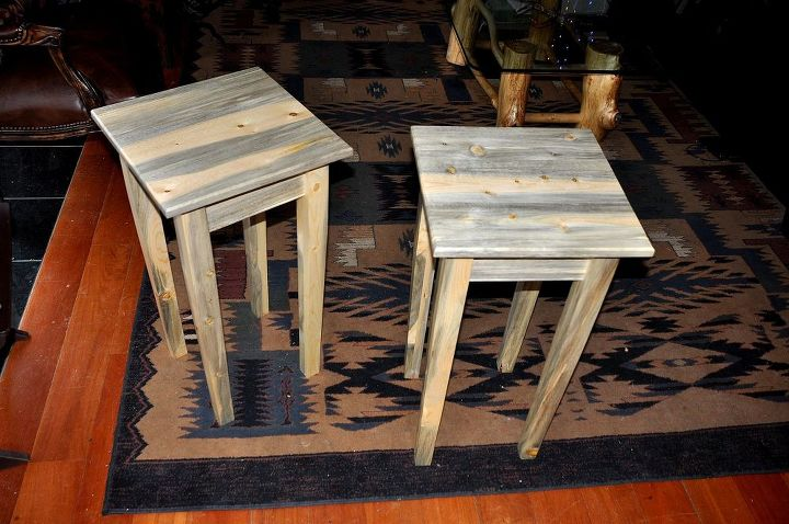 some custom end tables, painted furniture