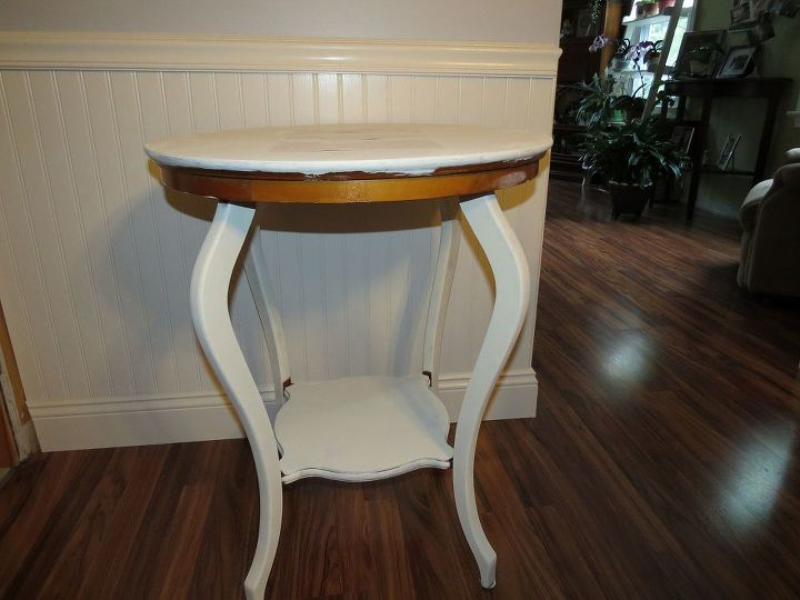 revamping a table, chalk paint, painted furniture, shabby chic