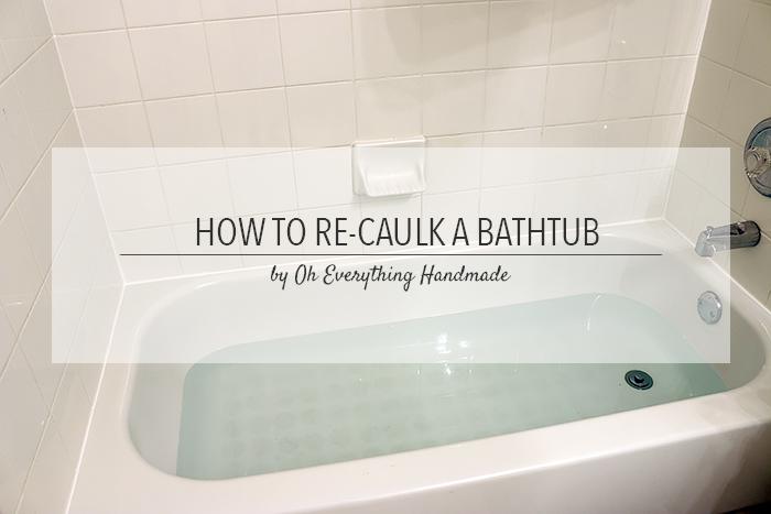How to Re-Caulk a Bathtub Tips | Hometalk