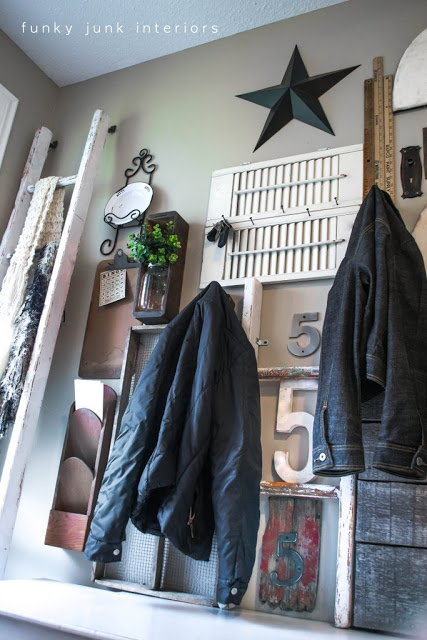 Coats and junk in a front entry? Absolutely!