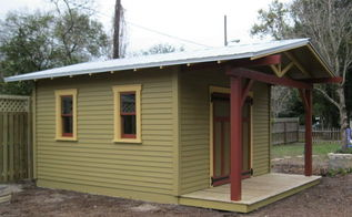 custom shed to complement a craftsman bungalow, garages, outdoor living, 14 x14 Custom Craftsman Bungalow potting shed