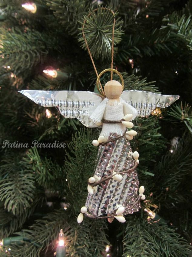 diy angel made with aluminum cookie sheets