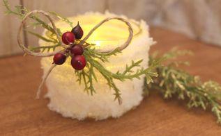how to make snowball mason jar candleholders, christmas decorations, crafts, mason jars, seasonal holiday decor