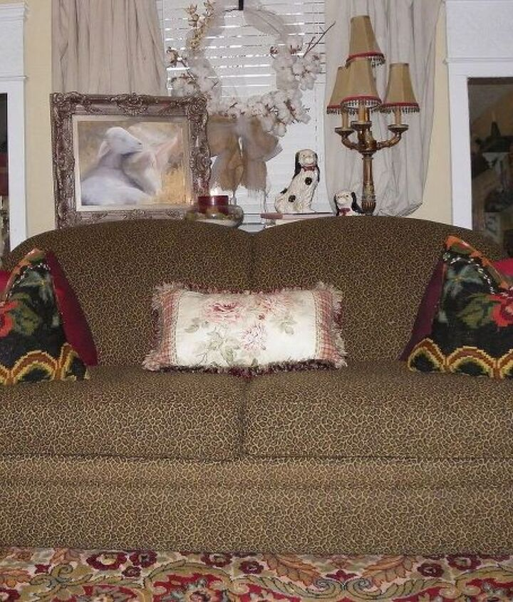 was i brave or just lucky when i bought my leopard print couch, home decor, painted furniture