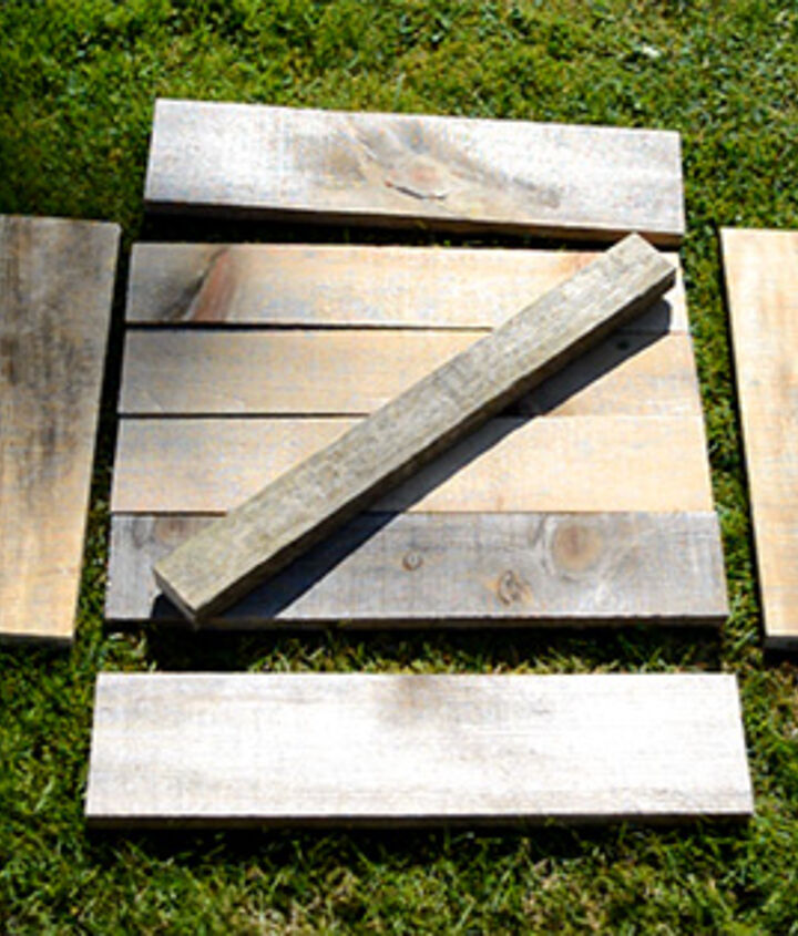 These are the pieces needed to make a trug