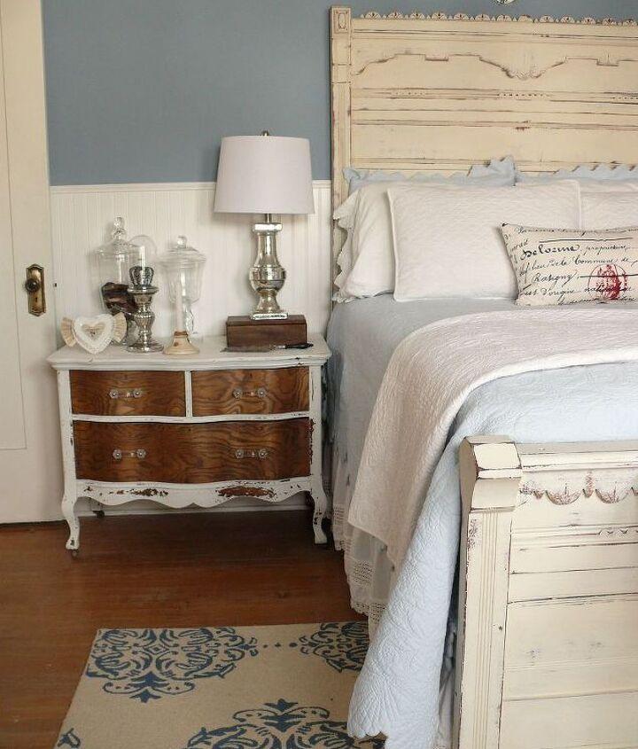 MMS Milk paint dresser as a bedside table.