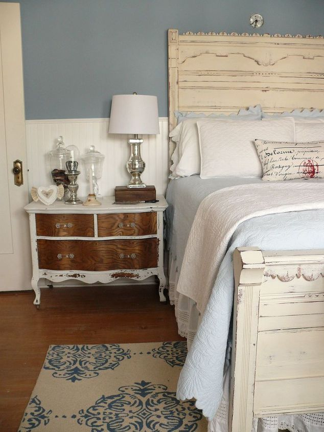 MMS Milk paint dresser as a bedside table.