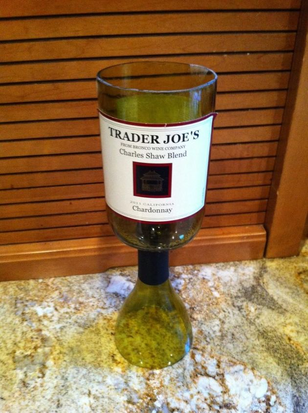 for all of you who liked my redneck wine glass post here is a 2 buck chuck, crafts, repurposing upcycling