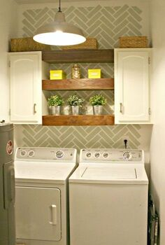 laundry room decor ideas using shelves, home decor, laundry rooms