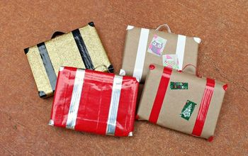 Wrap Gifts to Look Like Retro Suitcases
