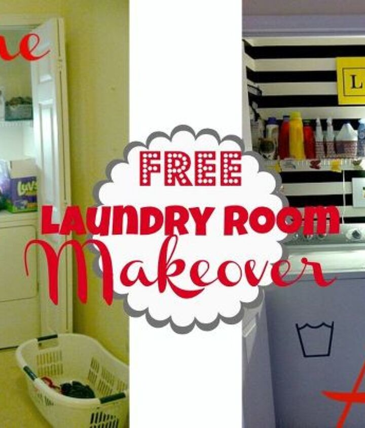 my completely free laundry room makeover, home decor, laundry rooms
