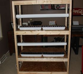 How To Build An Indoor Seed Starting Rack Cheap, Gardening, Shelving Ideas,  Storage