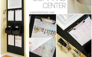 family chalkboard central command center, cleaning tips