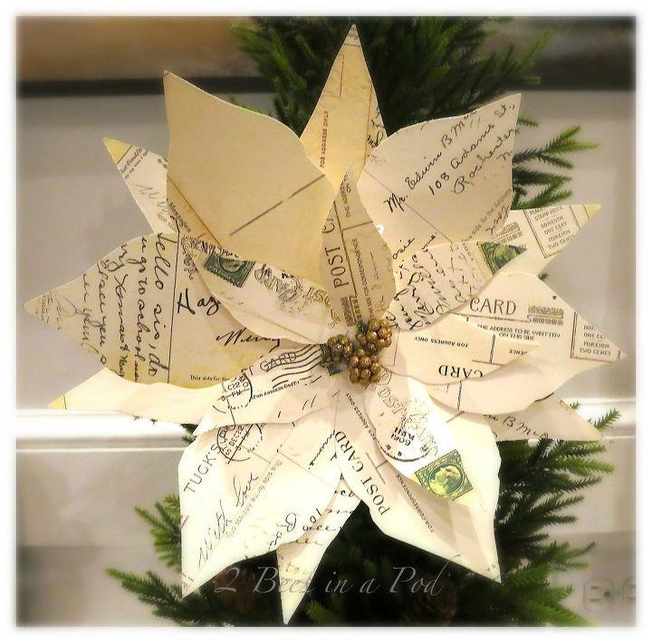 diy vintage christmas postcard poinsettias, christmas decorations, diy, seasonal holiday decor