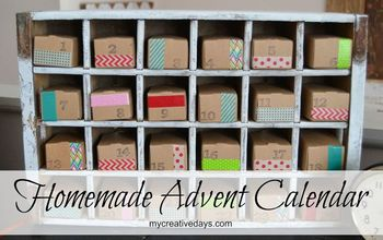 homemade advent calendar using a bottle crate, christmas decorations, crafts, seasonal holiday decor