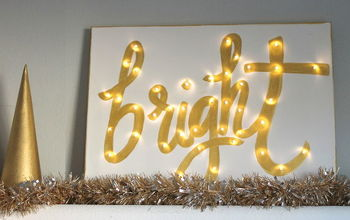 diy lighted canvas for christmas, christmas decorations, crafts, seasonal holiday decor