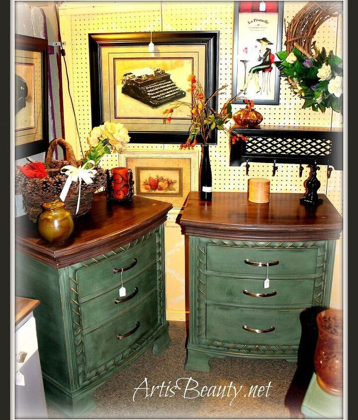 double dresser do over, painted furniture