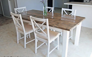 diy dinning table, diy, painted furniture, woodworking projects
