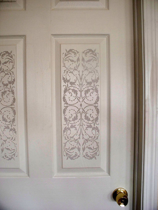 idea to use new panel stencil, doors