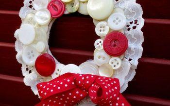 Vintage Button Wreath Ornaments