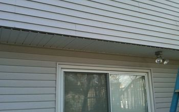 is your house cold drafty expensive to heat, heating cooling, home maintenance repairs, Rear overhang in process of removal of soffit