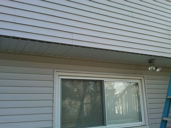 Rear overhang in process of removal of soffit