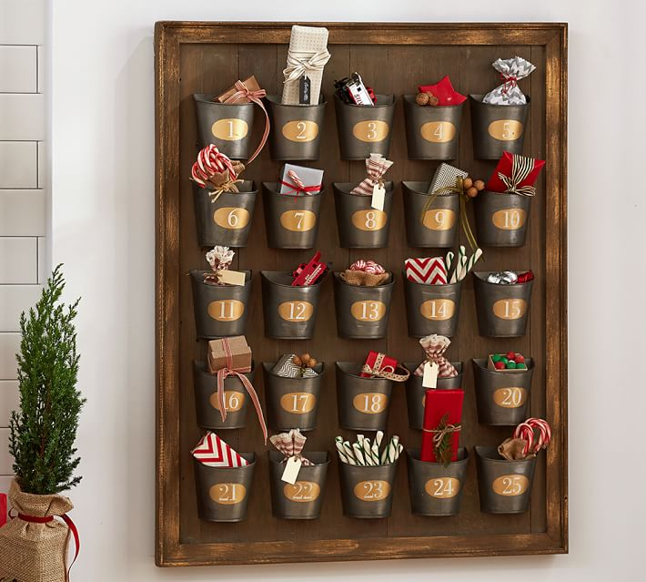 now you can have a pottery barn advent calendar for a, christmas decorations, how to, seasonal holiday decor