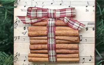 how to make a cinnamon stick holiday ornament, christmas decorations, crafts, seasonal holiday decor