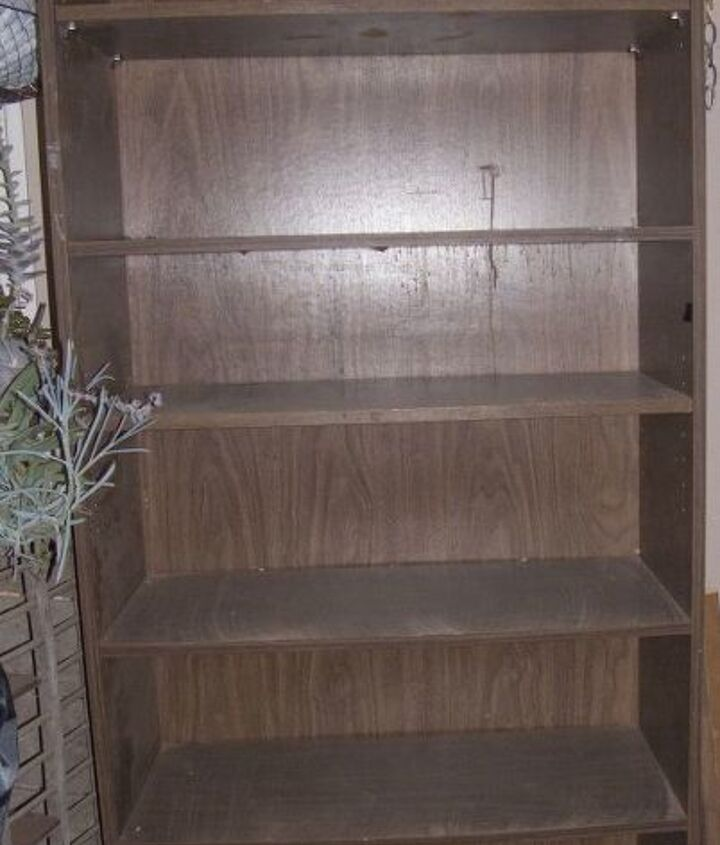 turning a cheapo goodwill bookshelf into a custom made project sort of, painted furniture, storage ideas