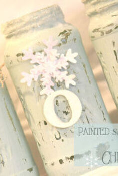 how to make painted snowy mason jars, christmas decorations, crafts, mason jars, seasonal holiday decor