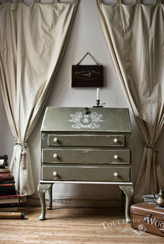 how to make an antique shabby chic bureau, chalk paint, painted furniture, repurposing upcycling, shabby chic