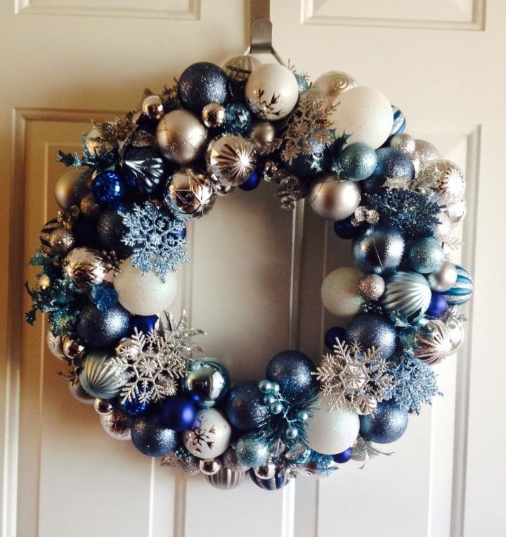 Frozen Christmas Decorations.How To Make A Frozen Inspired Ornament Wreath Hometalk
