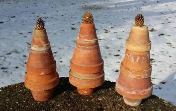 Terra Cotta Garden Pot Trees ~