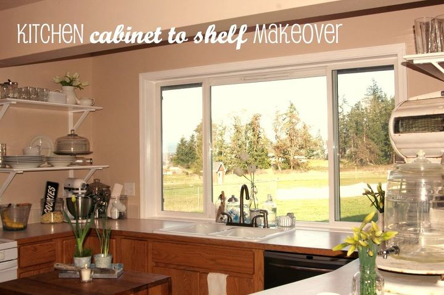 FREE Kitchen \'Cabinet to Shelf\' Makeover!   Hometalk