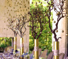 how to create a golden orb tablescape, crafts, how to, seasonal holiday decor