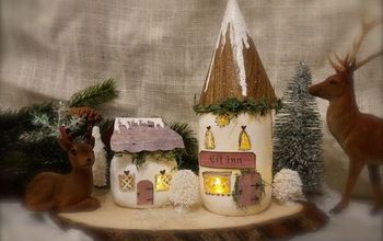 Mason Jar Elf Cottages: Home for the Holidays