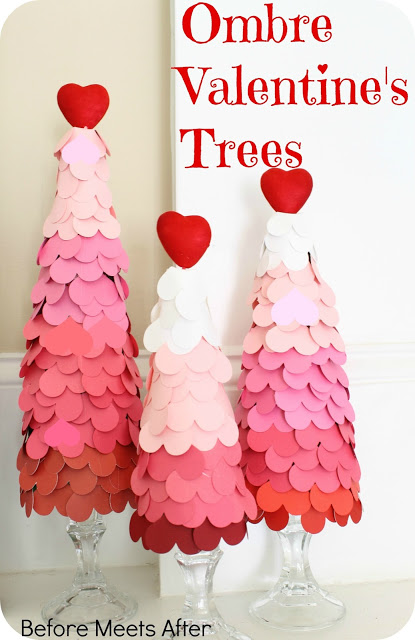 diy ombre valentine s day tree, seasonal holiday d cor, valentines day ideas