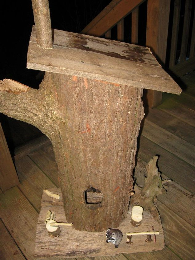 garden stump house, crafts, woodworking projects