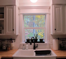 Great Kitchen Redo Ideas Using White Paint, Countertops, Kitchen Backsplash,  Kitchen Cabinets, Kitchen. Custom Window Trim.