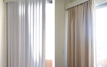 How to Conceal Vertical Blinds With a Curtain