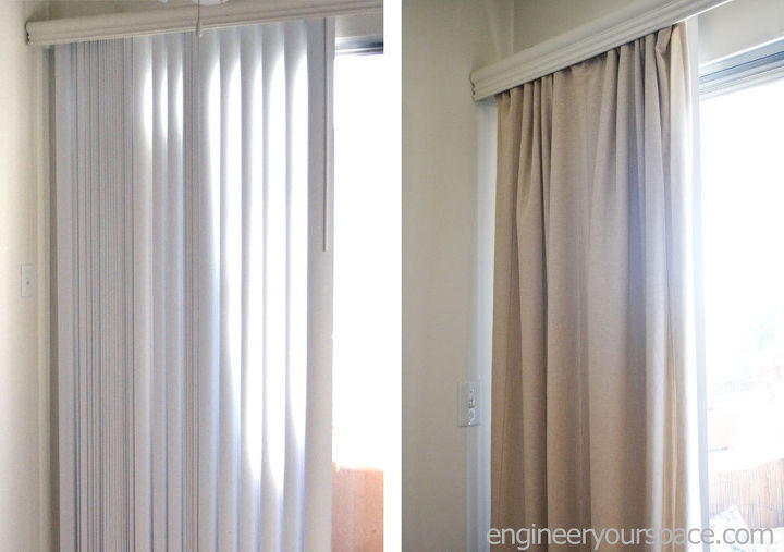 How To Conceal Vertical Blinds With A Curtain Hometalk