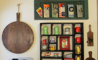 kitchen wall display, home decor, kitchen design, repurposing upcycling, The whole display