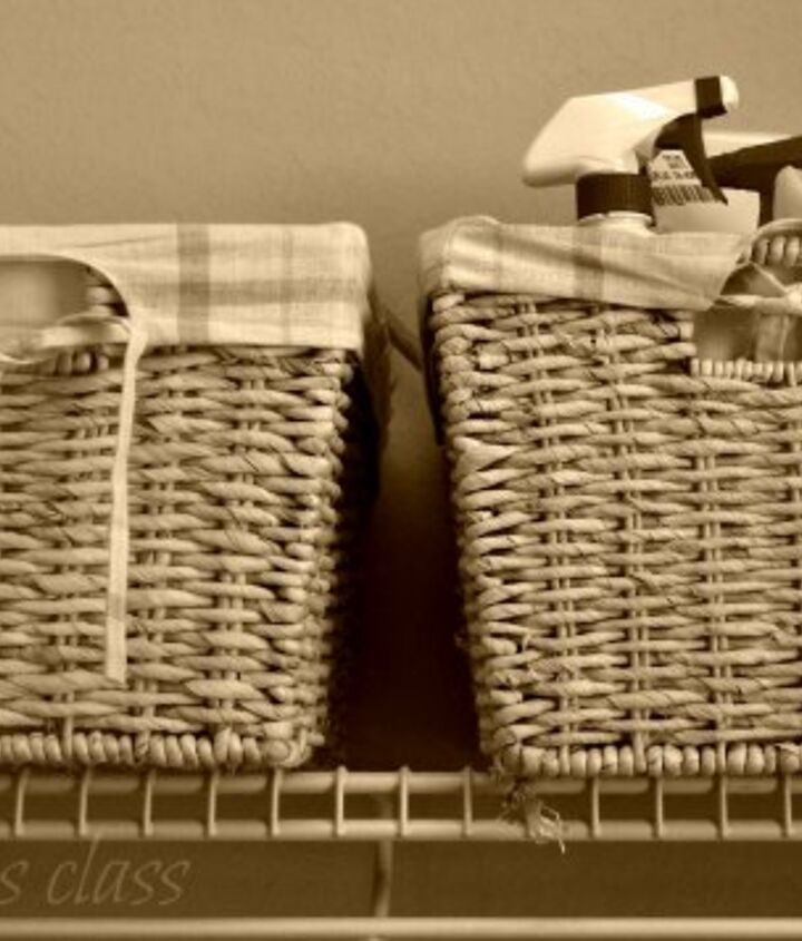 Baskets are wonderful for corralling the clutter.
