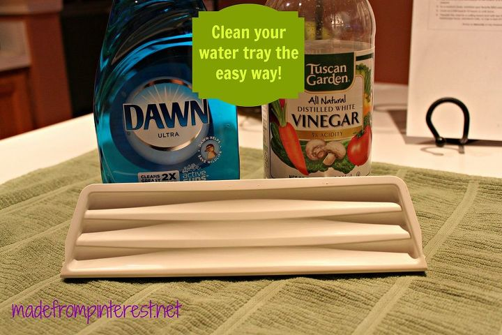 cleaning your refrigerator water dispenser tray, cleaning tips, Icky water stains on your refrigerator water tray Well tell them goodbye because this simple tip will solve that in minutes