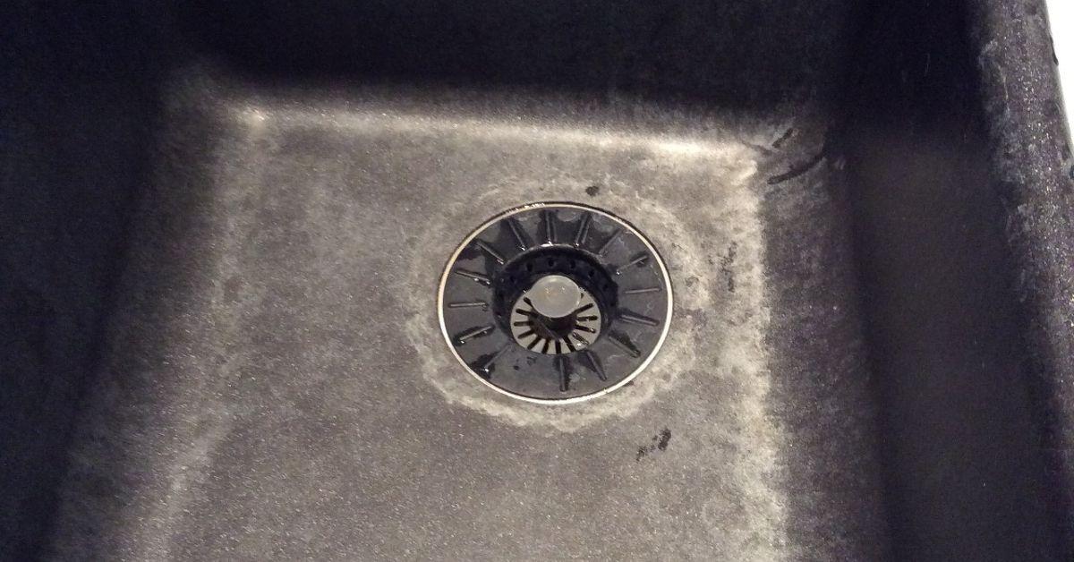 Hard water stains in granite sink | Hometalk