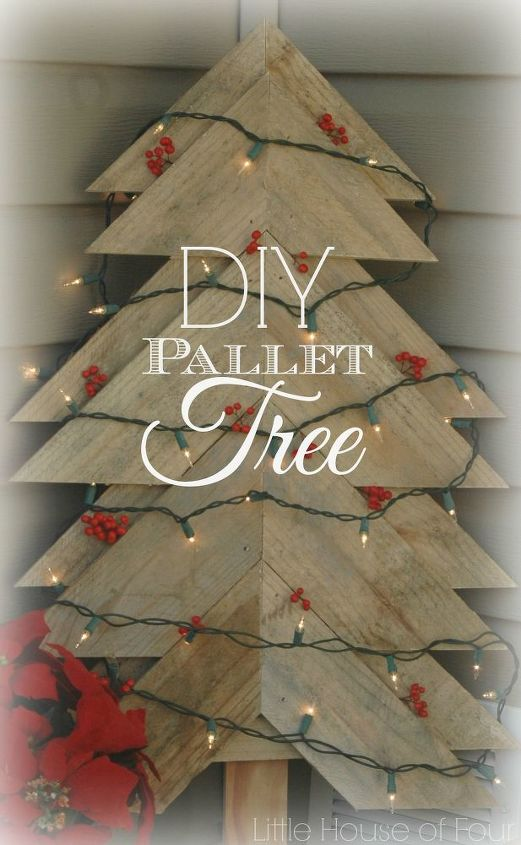 how to make a christmas tree from a pallet christmas decorations crafts pallet