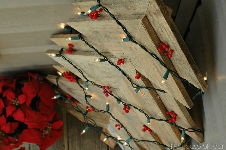 how to make a christmas tree from a pallet, christmas decorations, crafts, pallet, seasonal holiday decor, woodworking projects