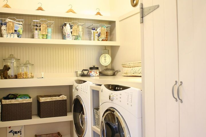 This is our laundry room which is connected to the kitchen and very visible.  We styled the kitchen to match the laundry room.